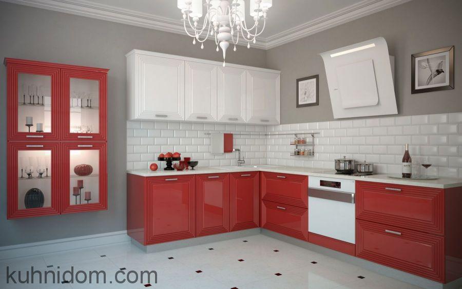Кухня Баколи Красно-Белая