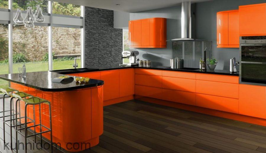 Кухня Система матовая оранж № 21